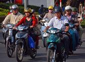 Motorcycle Madness in Saigon 2 — Stock Photo