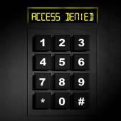 """Security black numeric dial with """"Access Denied"""" screen — Stock Photo"""