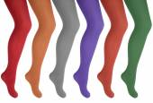 Women's legs in colorful tights — Stock Photo