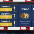 Various 3D pasta boxes on supermarket shelve — Stock fotografie #61703149