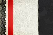 Decorative fabric background. Scrapbook, photobook concept  — Stockfoto