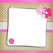 Stack of blank papers on polka dots background — Stock Photo