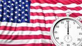 Flag of USA with chronometer — Stock Photo