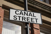 Canal Street Sign, Manchester — Stock Photo