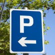 Blue Parking Sign — Stock Photo #55777377