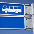 Blue Bus Sign — Stock Photo #58861119