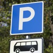 Blue Bus Parking Sign — Stock Photo #58862879