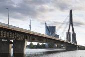 Vansu Bridge, Riga — Stock Photo