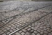 Tramrails in Riga — Stockfoto
