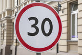 Thirty Kilometer Per Hour Speed Limit Sign — Stock Photo