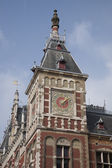 Facade of Central Station, Amsterdam, Holland — Foto Stock
