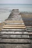Pier and Jetty, Valencians Beach, Formentera — Stock Photo
