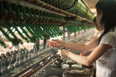 Silk production  — Stock Photo