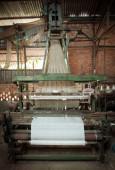 Silk loom weaving machine — Stock Photo