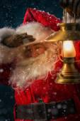 Santa Claus outdoors — Foto Stock