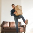 Man carrying boxes — Stock Photo #55312753