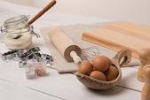 Ingredients for dough preparing — Stock Photo