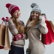 Two   women with shopping bags — Stock Photo #60376927