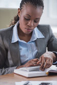 Businesswoman workplace planning — Foto de Stock