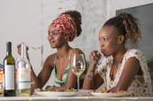 Friends Enjoying Meal — Stock Photo