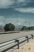 Modern windmills generate electric power — Stock Photo