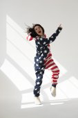 Woman celebrating Independence Day — Stock Photo