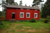 Traditionnal wooden house in Seurasaari open air museum — Stock Photo