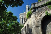 Notre Dame de Fourviere Basilica in Lyon — Stock Photo