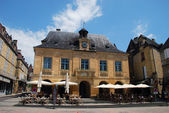 Beautiful restaurant in a city located in Rhone Alpes regions — Stock Photo