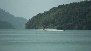 Jet Ski and Banana Boat 03 — Stock Video