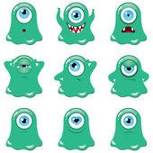 Green monsters — Stock Vector