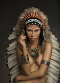 Native American Indian Girl — Stock Photo