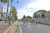 Car Free Streets on Tervueren Ave as part of Brussels City's - 2 — Stock Photo
