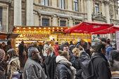 Christmas Market in Brussels, Winter Wonders. — Stock Photo