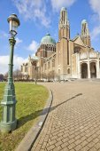 National Basilica of Sacred Heart In Koekelberg, Brussels, Belgi — 图库照片