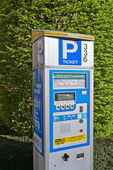 Brussels powered solar parking meter — Stock Photo