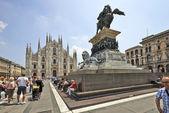 イタリアのミラノからドゥオーモ大聖堂での観光客 — ストック写真
