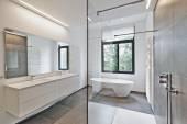 Luxury modern bathroom — Stock Photo