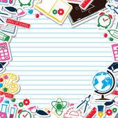 Marco de la escuela — Vector de stock