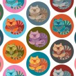 Lovely cats seamless pattern — Vetor de Stock  #58741833