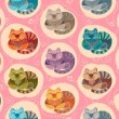 Lovely cats seamless pattern — Stockvector  #58741845