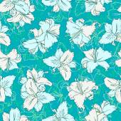 Seamless pattern with lilies — Stock Vector