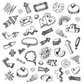 Infographic doodles collection — Stock Vector