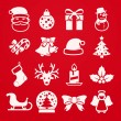 Cute christmas icons — Stock Vector #63431179