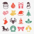 Cute christmas icons — Stock Vector #63431185