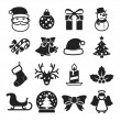 Cute christmas icons — Stock Vector #63431193