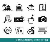 Otel ve seyahat — Stok Vektör
