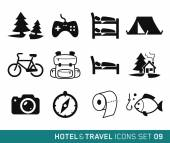Hotel and Travel — Stock Vector