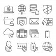 Information technology security icons. Plain line — Stock Vector #63791241