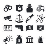 Crime icons — Stock Vector